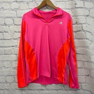 Adidas Ladies Neon Pink and Orange Active Top